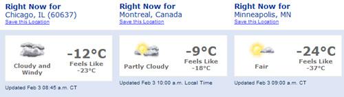 Teploty 3. února 2007