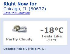 Teplota 5. února