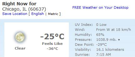 Teplota 16.1.2009 rano